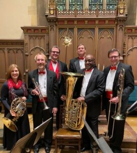 January 5, 2020 Brass Quintet and Pipe Organ concert musicians
